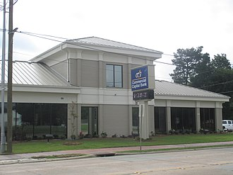 Delhi, Louisiana - Commercial Capital Bank is located in downtown Delhi across the street from the First Baptist Church.