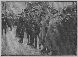 Těšín electoral district (Czechoslovakia) - Allied officers at the 1920 Spa Conference