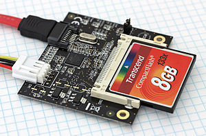 CompactFlash - CompactFlash to SATA adapter with a card inserted