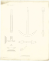 Comparison draught between the anchor design of Perring's, Lt. Roger's, and a new anchor RMG J0553.png