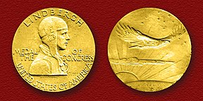 Congressional Gold Medal presented to Col. Charles A. Lindbergh.jpg