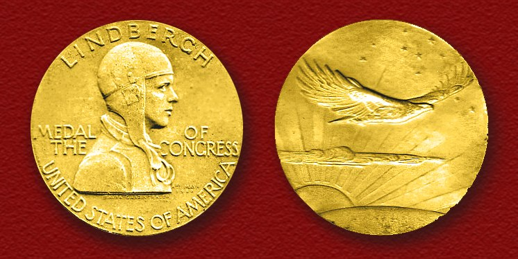 Congressional Gold Medal presented to Col. Charles A. Lindbergh