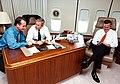 Congressman Mario Díaz-Balart with President George W. Bush and Governor Jeb Bush.jpg