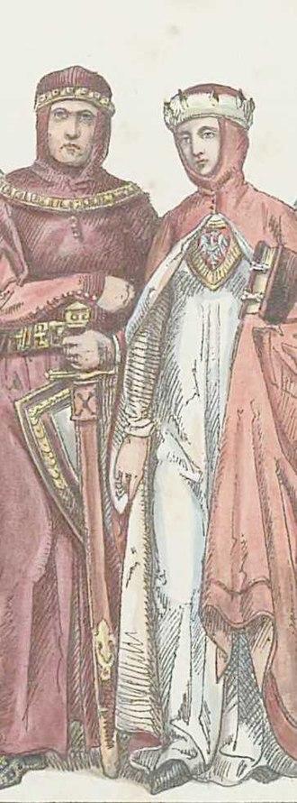 Agafia of Rus - Agafia (right) with her husband Konrad (left)