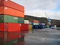 Containere og kran på Orkanger havn (2963558683).jpg