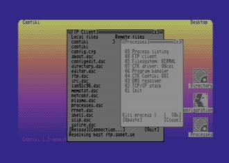 Contiki - Contiki on the  Commodore 64.