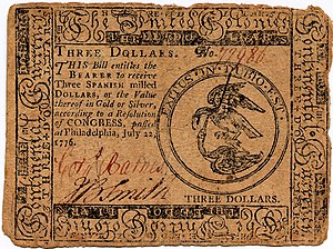 Continental Currency $3 banknote obverse (June 22, 1776).jpg