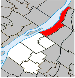 Location within Marguerite-D'Youville RCM.