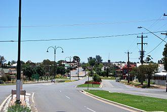 Coolamon, New South Wales - Coolamon seen as entering from the Wagga Wagga Road