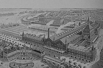 Bernstorffsgade - The new Central Station in 1911