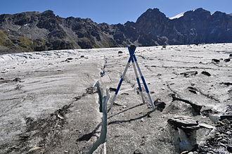 Grand Tavé - Grand Tavé (left summit) from the Corbassière Glacier