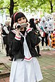 Cosplayer of Tomoyo Daidouji with Panasonic video camera 20180812a.jpg