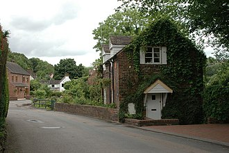 Jackfield - Houses in the west of the village.