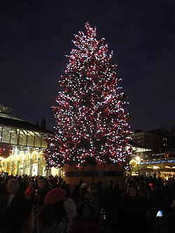 Covent Garden Christmas tree 2011.JPG