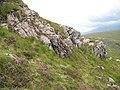 Crags above Bealach Eas nan Cabar - geograph.org.uk - 928481.jpg