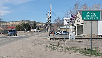 Craig, Colorado - Entering Craig from the south on South Ranney Street.