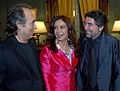 Cristina Fernandez, Serrat y Sabina.jpg