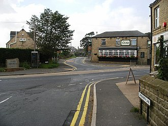Upper Cumberworth - Image: Crossroads Upper Cumberworth geograph.org.uk 980264
