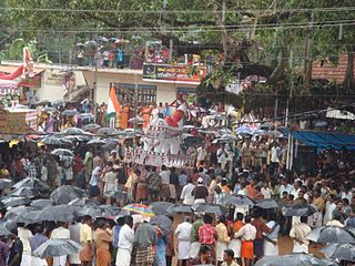Elavumthitta Town in Kerala, India