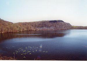Besek Mountain - Cliffs of Besek Mountain plunge into Black Pond