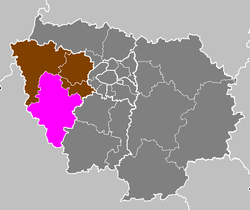 Location of Rambouillet in Île-de-France