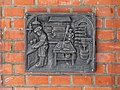 Dülmen, Arkaden an der Münsterstraße, Relief -- 2020 -- 7382.jpg
