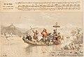 """Düsseldorfer Lieder-Album, Arnz & Co. 1851, S. 5 – """"Auf dem Rheine"""", Gedicht von Wolfgang Müller von Königswinter, Komponist Julius Rietz, Farblithografie nach Illustration von Henry Ritter.jpg"""