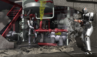 DARPA Robotics Challenge - Illustration of example disaster response scenario