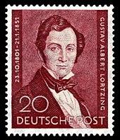 Briefmarke (1951) zum 100. Todestag (Quelle: Wikimedia)