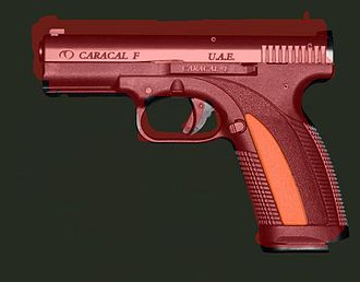 Caracal pistol - The Caracal F superimposed over the HS2000 pistol contour