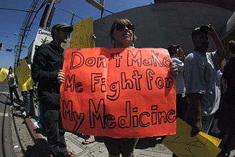 Drug Enforcement Administration - People protesting medical marijuana raids
