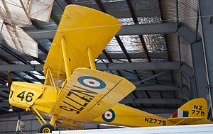 DH82A Tiger Moth, NZ775ZK-AIN, MOTAT, Auckland, New Zealand, 5 April 2010.jpg