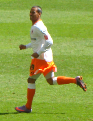DJ Campbell - Campbell playing for Blackpool in the 2010 Championship play-off Final at Wembley Stadium