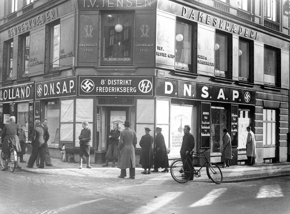 DNSAP's distriktskontor på Gammel Kongevej i København