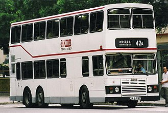 Kowloon Motor Bus - KMB's first air-conditioned bus, a 1988 Alexander bodied Leyland Olympian(retired)