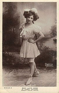 Daisy Wood Music hall singer, sister of Marie Lloyd
