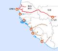 Dakar-Niger railway map-zh-hans.png