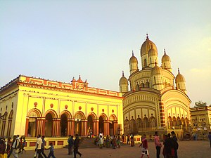 Dakshineswar Kali Temple - Image: Dakhineswar temple in Bally (1)