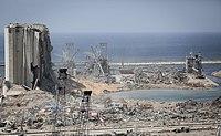 Zerstörungen im Hafen von Beirut nach der Explosion
