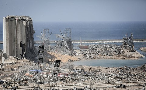 Damages after 2020 Beirut explosions, From WikimediaPhotos