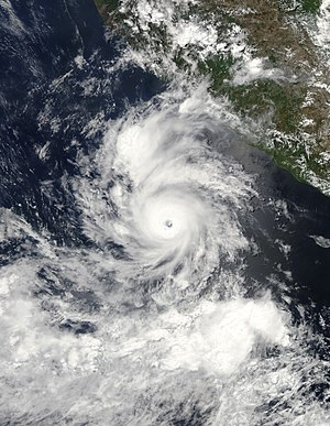 Timeline of the 2010 Pacific hurricane season - The small Hurricane Darby situated south of Mexico on June 25