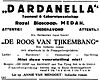 Advertisement for a performance of a stage adaptation of Boenga Roos dari Tjikembang