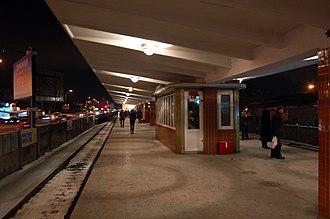 Darnytsia (Kiev Metro) - Image: Darnytsia Metro Station Kiev 2012 01