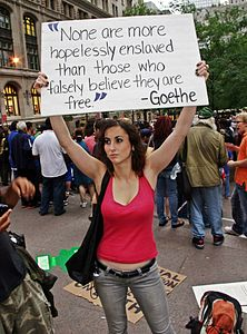 Day 12 Occupy Wall Street September 28 2011 Shankbone 33.JPG