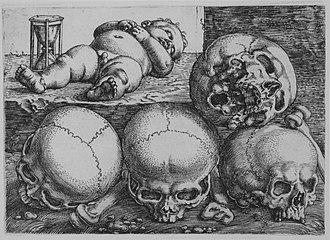 Barthel Beham - Image: Dead Child with Four Skulls MET MM38383