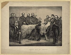Henry Halleck - Halleck (standing, fifth from left) was present at the death of Abraham Lincoln