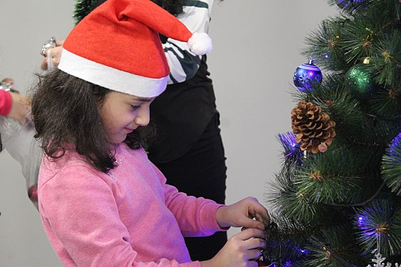 Decoration of Wikimedia Armenia Christmas tree, 12 Dec 2017 02.jpg