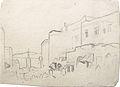 Dehodencq A. - Pencil - Esquisse d'une vue de Tanger - 11x7.9cm.jpg