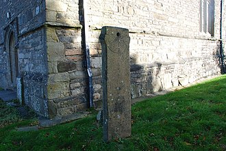 Clynnog Fawr - The church's freestanding tide dial