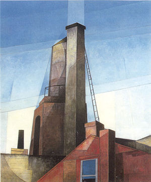 Precisionism - Charles Demuth, Aucassin and Nicolette, oil on canvas, 1921